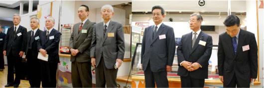 今回の懇親会開催にご尽力いただいた,各学部同窓会の会長及び関東(東京)支部長