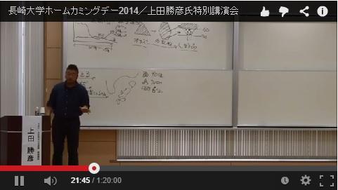 長崎大学ホームカミングデー2014/上田勝彦氏特別講演会