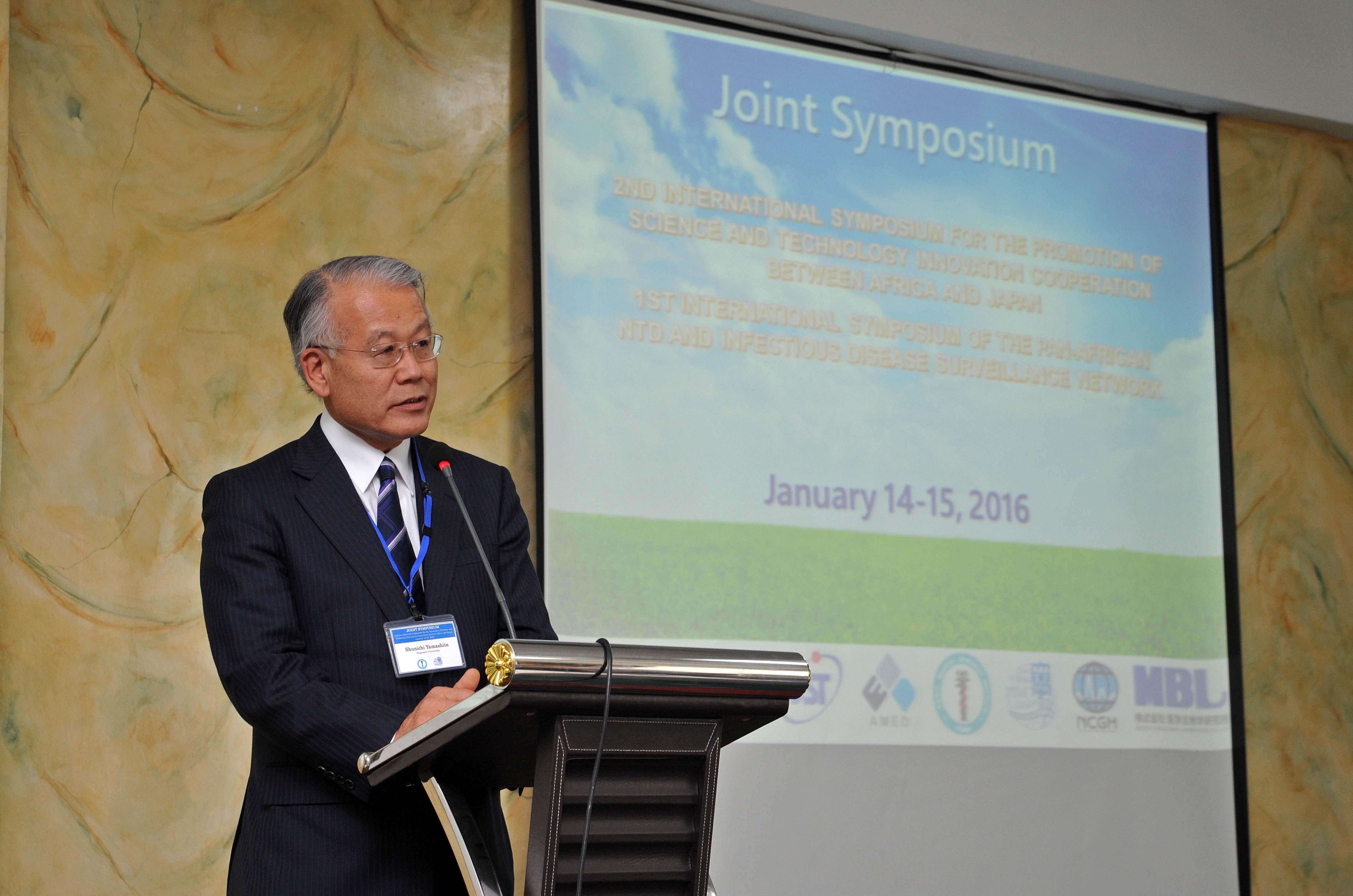 「長崎大学と日本の他大学、長崎大学とケニアが連携していくための重要なイベント」(山下俊一長崎大学理事)