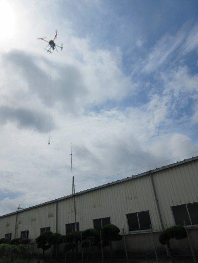 AKABOTの飛行採水機能試験