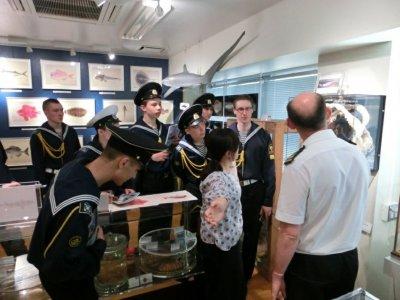 水産学部の博物館の見学