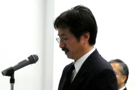 吉浦センター長による慰霊の辞