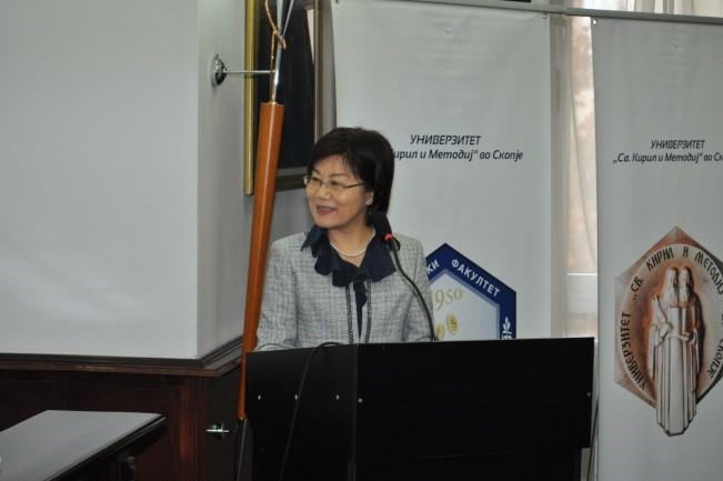 在北マケドニア日本大使:羽田恵子氏の挨拶