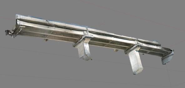 収得した橋脚3Dオルソ画像