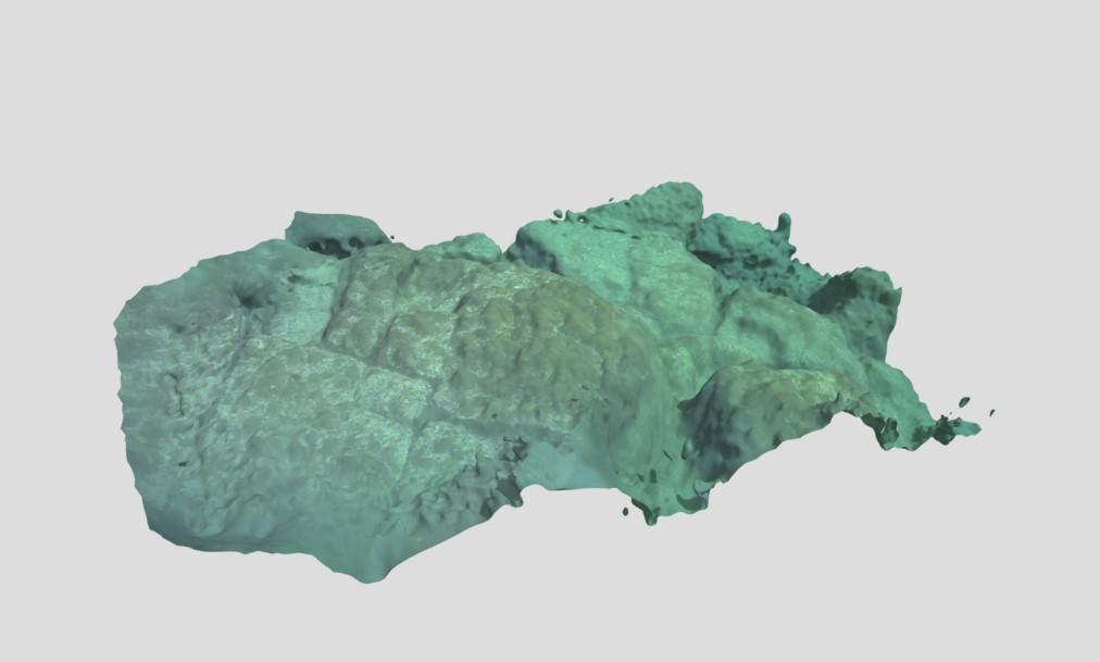 元寇船が沈んでいる海域の海底面3Dオルソ画像