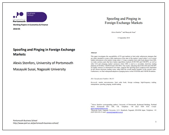 Spoofing and Pinging in Foreign Exchange Markets